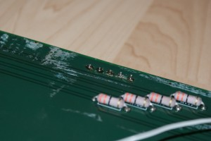 Bad solder joints.