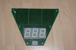 Display board with the bad digits removed.