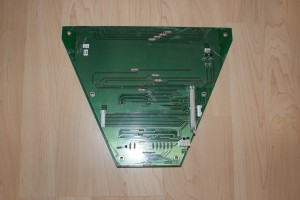 Reverse of the display board with the bad digits removed.