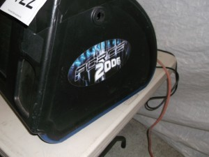 Auction pictures showing the dim monitor.