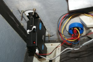 Inside view of the newly-installed acceptor
