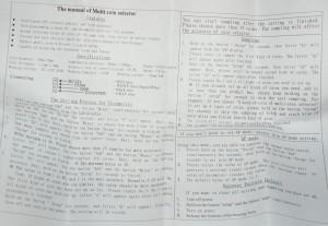 CH-923 Manual