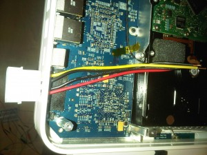 Stripped Molex extension cable
