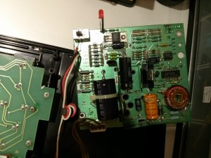 Power supply board - Not exactly the clearest picture, but you can see that the output pinout shows the voltages.